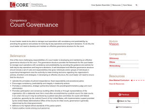 Court Governance Resources